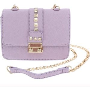 BCBG lavender studded crossbody bag! OFFERS!!